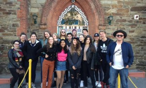 Certificate III students with singer-songwriter Tristan Newsome