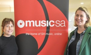 Certificate IV in Music Industry student Tamlyn Neck with Delia Obst