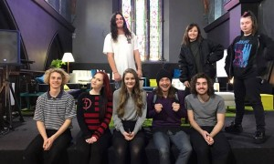 Certificate IV in Music Industry students with Heaps Good Friends songwriter Nick O'Connor