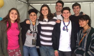 Chloe Warrick (pictured left) with Montaigne at the Heaps Decent Music Workshop x Groovin' The Moo